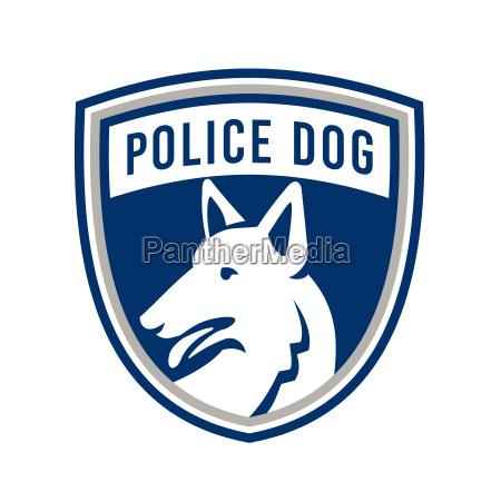 police dog shield mascot