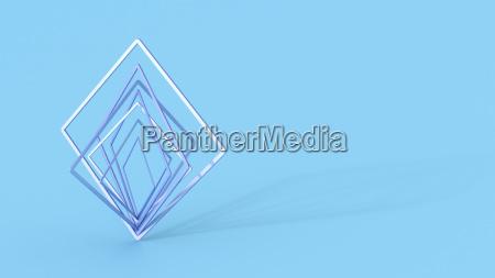 abstract balancing squares 3d rendering