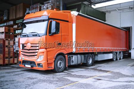truck at loading bay