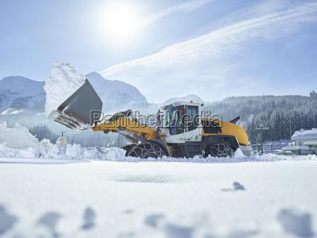 austria tyrol hochfilzen snow plowing service