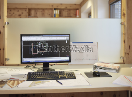 achitects office planning office screen of