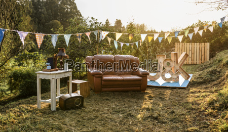 empty decoration set for party in