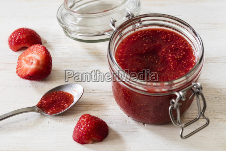 homemade strawberry jam with chia seeds