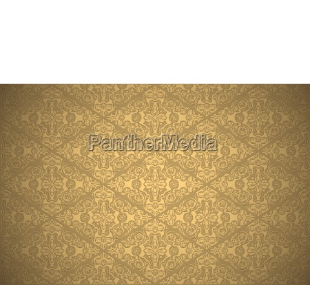 damask pattern in gold colors