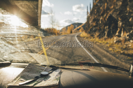 canada british columbia alaska highway car