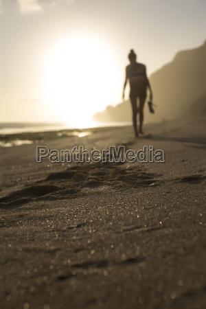 indonesia bali woman walking on the
