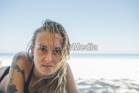 cuba varadero beach young woman with