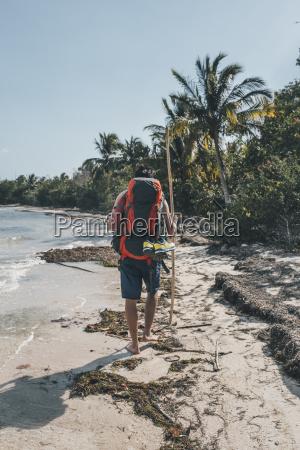 cuba cienaga de zapata backpacker walking