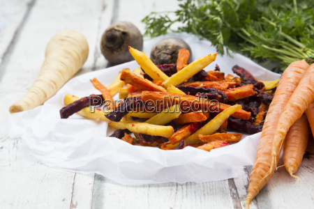 sweet potato carrot and parsnip fries