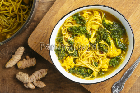 turmeric broth detox soup with soba