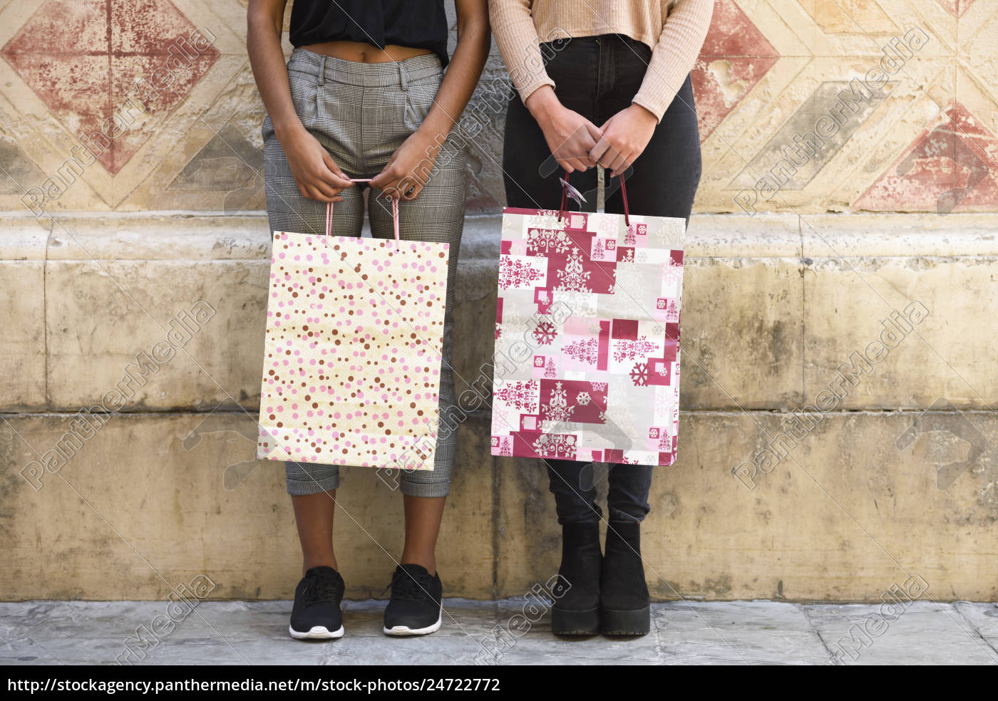 two, women, with, shopping, bags, , partial - 24722772