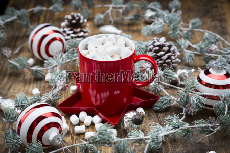 cup of hot chocolate with marshmellows