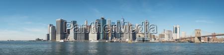 usa new york city skyline and