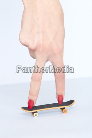 close up of womans hand with
