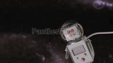robot in the universe 3d rendering