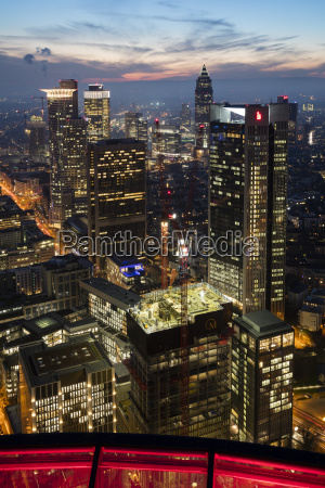 germany hesse frankfurt view from maintower
