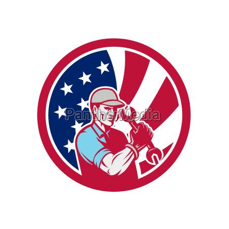 american industrial maintenance mechanic usa flag