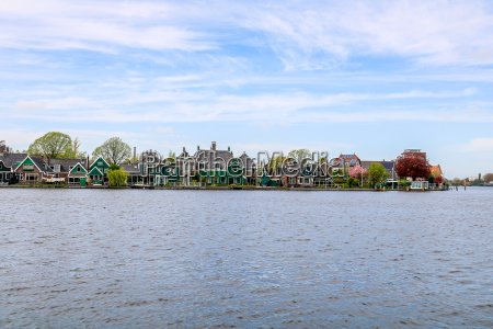 traditional dutch houses in zaanse schans