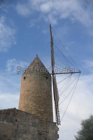 windmill in santa margalida mallorca