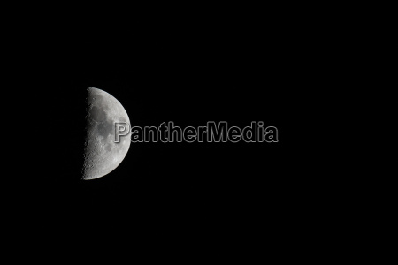 moon waxing landscape with copy space