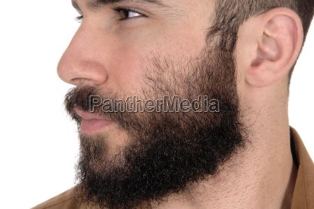 close up of face of man
