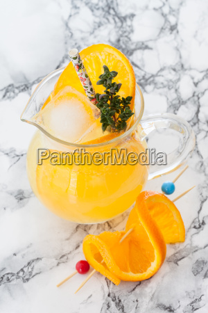 homemade lemonade with orange