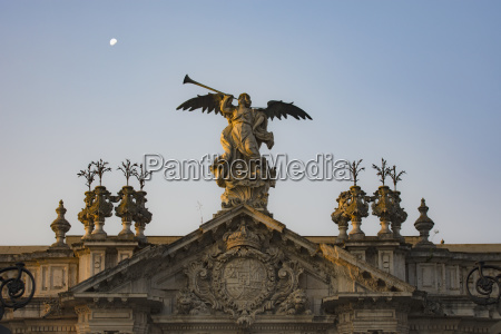 spain seville statue of angel with