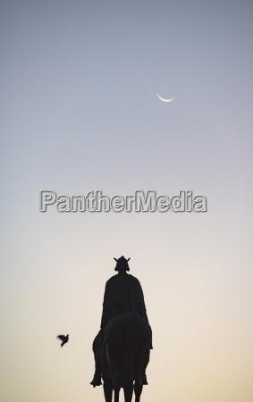 spain seville plaza nueva silhouette of
