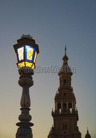 spain andalusia seville plaza de espana
