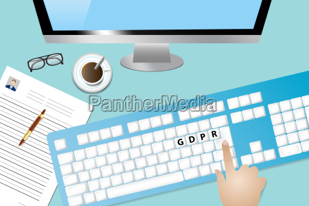 general data protection regulation concept vector