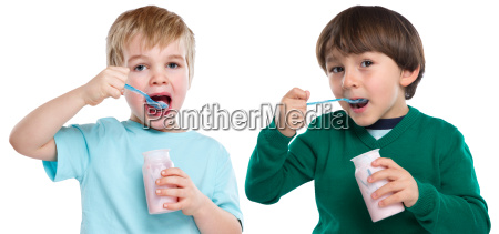children eat yogurt childs healthy diet
