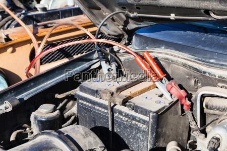 jump start a flat car battery