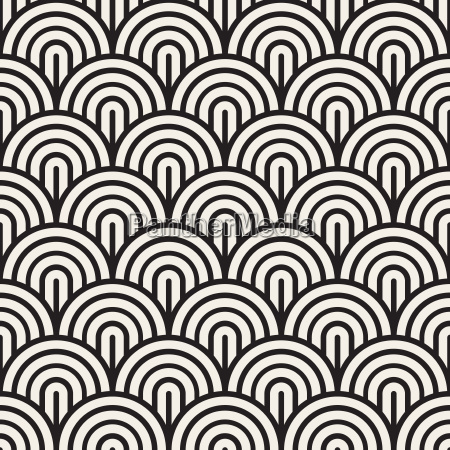 vector seamless black and white rounded
