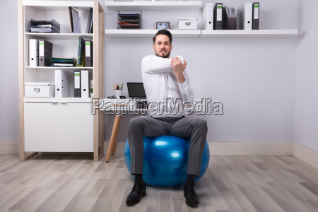 businessman doing exercise