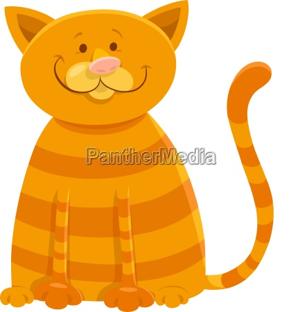 happy cat cartoon animal character