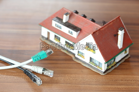house model with cable connection