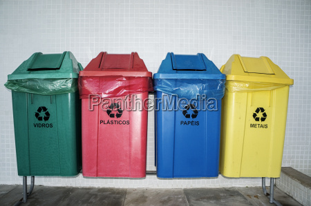 recyclable trash bin environmental separation