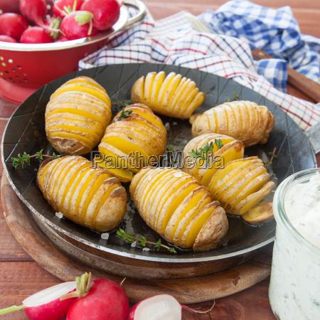 rustic fan potatoes