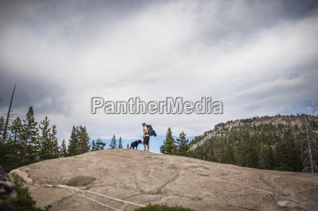 low angle view of man and