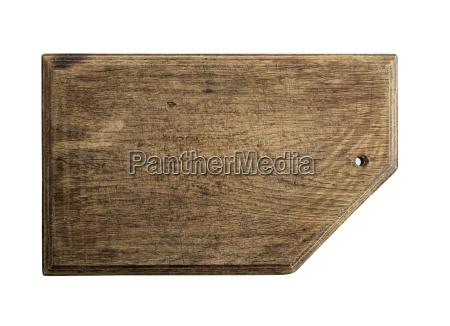 rectangular brown old cutting board