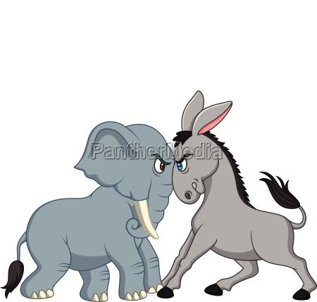 american politics democratic donkey versus