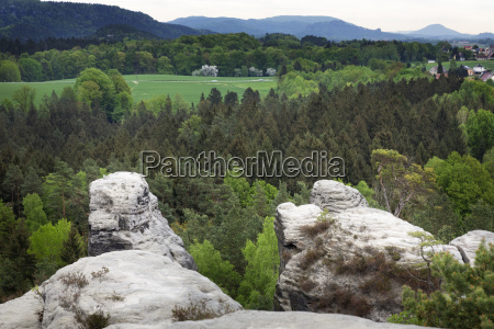 view from the gamrig rock formation