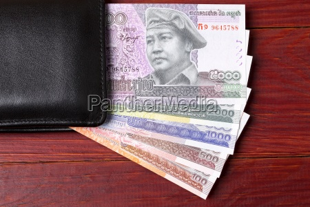 cambodian money in the black wallet