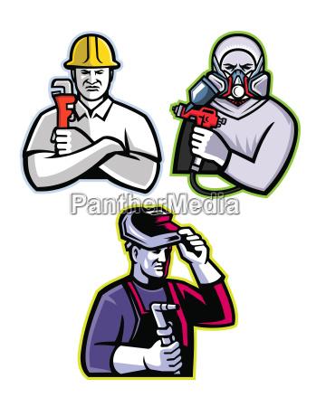 tradesman mascot collection