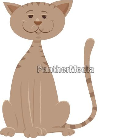 funny beige cat cartoon animal character