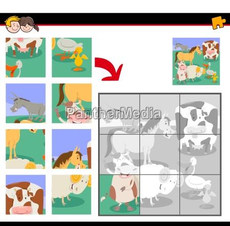 jigsaw puzzles with cute farm animals