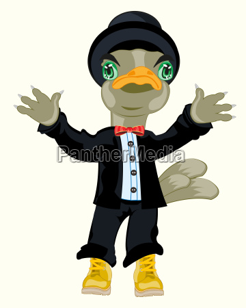 bird in suit