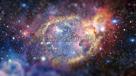 the helix nebula in deep space