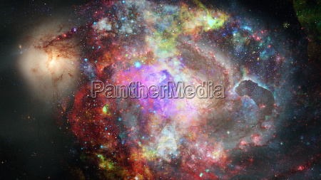 nebula and stars in deep space