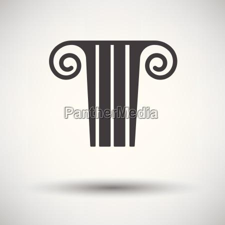 antique column icon on gray